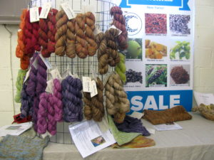 Booth at the alpaca festival